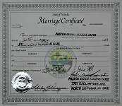 Marriage Certificate Las Vegas