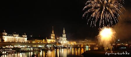 Feuerwerk am Samstagabend
