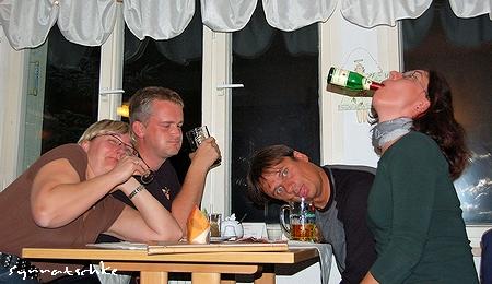 Heide, Heiko, Steffen und ich in der Laasenperle