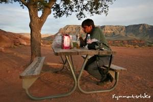 Erfolgreiche Salatvernichtung am Rand des Grand Canyon
