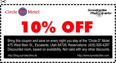 Discount Coupon for the Circle D Motel