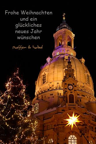 Frohe Weihnachten - Frauenkirche Dresden