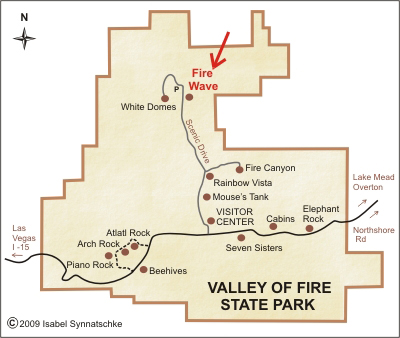 Valley of Fire Map