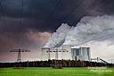 Das Kraftwerk Schwarze Pumpe in der Lausitz