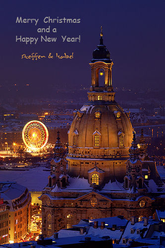 Merry Xmas and a Happy New Year - Frauenkirche Dresden