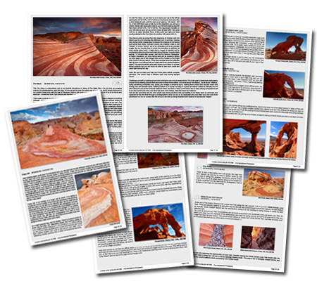 "Buy our eGUIDE ""A closer LOOK at Valley of Fire - The essential guide for Landscape Photography"