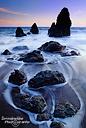 Den ersten Sonnenuntergang unmittelbar nach dem langen Flug verbrachten wir an der Rodeo Beach nördlich von San Francisco.