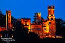 Heute zur Blauen Stunde fast noch schöner als sonst: das Schloss Hotel Eckberg, mein Lieblingselbschlösschen errichtet Mitte des 19. Jahrhunderts
