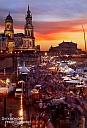 Die Farben waren aber am zweiten Abend noch genialer und ich hatte da leider nur mein Gorillapod mit und kein Weitwinkelobjektiv - Sonnenuntergang auf der Brühlschen Terrasse beim Dresdner Stadtfest