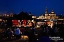 Zur Blauen Stunde sah die Dresdner Altstadt aus allen Richtungen superschön aus!