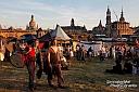 Schön war auch der Blick auf die Altstadt vom Mittelaltermarkt am Dresdner Stadtfest.