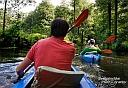 Zwischendurch ein Blick aus dem eigenen Boot während unserer rasanten Fahrt durch den Hochwald ;-)