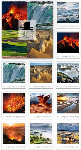 Vier Elemente 2014 - Ackermann Kunst-Kalender