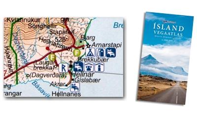 Ausschnitt von der Ferdakort Straßenkarte