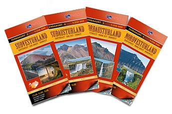 Straßenkarten Island von Ferdakort 1:250.000