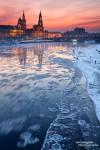 Dresden im Winter Klappkarten
