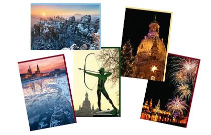 Dresden im Winter - unsere Klappkarten von der art+form Kunstgalerie