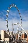 Einen neuen Blick auf den zentralen Bereich des Strip verspricht das derzeit größte Riesenrad der Welt, der am 31. März 2014 neu eröffnete Las Vegas High Roller.