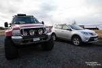 Für die isländischen Superjeeps ist im Winter auch der Norden oder Osten des Landes meist kein Problem, ganz im Gegensatz zu unserem Spielzeug-Mini-SUV. Manchmal kommt es halt doch auf die Größe an… ;-)