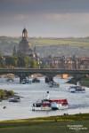Die Dampferparade Riverboat Shuffle beim Dixieland Festival in Dresden