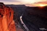Sonnenaufgang am Toroweap Point im westlichen Grand Canyon Nationalpark
