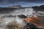 Ein Spaziergang durch die Lavafelder vom Leirhnjukur ist eines der absoluten MUST DOs beim Lake Myvatn und selbst bei Schlechtwetter beeindruckend - oder gerade dann erst recht! ;-)