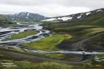 Eine der zahllosen Furten an der F208, die von Landmannalaugar über Eldgja hinunter zur Südküste führt.