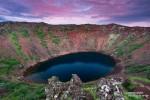 Toll war es auch kurz nach Mitternacht am Kerid, wo wir ganz alleine am Kraterrand standen.