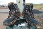 Nach unseren Abenteuern am Lake Myvatn standen zahllose Wanderkilometer am Programm. So viele, dass gegen Ende der Reise Steffen seine zwei Paar Schuhe nur noch reif für die Mülltonne waren... ;-)