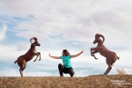 Ich habe versucht den Streit zwischen zwei bighorn sheeps zu schlichten. Das ist mir leider nicht gelungen und ich fürchte fast, die kämpfen da jetzt noch ewig weiter... ;-)