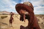 Immer zu einem Kampf aufgelegt sind die (männlichen! ;-) ) Dickhornschafe am nördlichen Ortsrand von Borrego Springs.