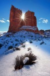 Arches Nationalpark im Winter