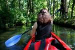 Nach dem Mittagessen legten wir einen Zahn zu und fuhren mit dem Paddelboot in den Hochwald.
