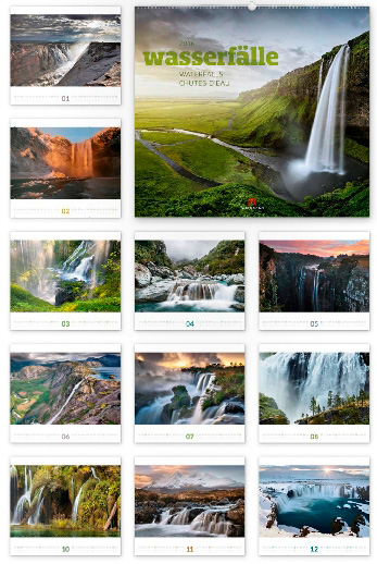 Wasserfälle 2016 - Ackermann Kunst-Kalender