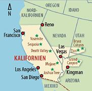 USA Kalifornien Karte
