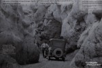 Noch spannender dürfte die Fahrt durch den Slot früher gewesen sein mit so einem klapprigen Auto. Klasse jedenfalls das alte Foto vom NPS, das am westlichen Canyoneingang zu sehen ist!