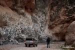 Besonders lange hielten wir uns in dem Bereich des Titus Canyons auf, wo die Felswand wie ein riesiges Mosaik aussah.