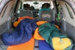 Schlafen im Auto, auch ein Grund für die Anmietung eines größeren SUVs