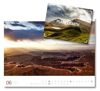 Planet Earth Kalender von Ackermann 2018