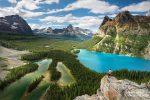 Am längsten verweilten wir am Opabin Prospect, einem Aussichtspunkt am gleichnamigen Plateau mit herrlichem Blick auf den türkisblauen Lake O Hara und den grünen Mary Lake. Steffen hatte auch noch ein perfektes Foto-Shirt an! :-)