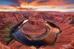 Sonnenuntergang am Horseshoe Bend im September 2012 - wer weiß, ob dieser Blick von der Canyonkante zukünftig noch möglich sein wird...