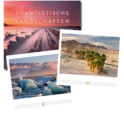 Phantastische Landschaften Kalender von Ackermann 2019