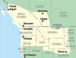 USA Kanada Karte