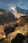 Aber auch tagsüber waren die Lichtstimmungen in den Bergen oft kaum zu toppen - hier ein Regenbogen in der Canyonlandschaft von Gran Canaria.