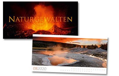 Naturgewalten Kalender von Ackermann 2020