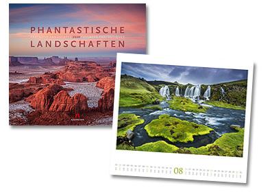 Phantastische Landschaften Kalender von Ackermann 2020