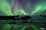 Auch die benachbarte Gletscherlagune ist ein ganz spezieller Ort um eine Polarlichter-Show zu erleben.