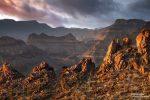 Und auch hier in dieser Canyon-Wanderung abseits ausgetretener Pfade freuten wir uns über etwas Drama am Himmel.