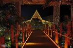 Der Eingangsbereich des Lopesan Baobab Resorts in Maspalomas hatte schon einen Touch von Las Vegas - stylisch, bunte Beleuchtung und mit Affengeräuschen aus dem Dschungel.
