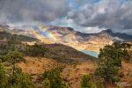 Die Woche auf Gran Canaria war wieder ausgesprochen abwechslungsreich - hier abschließend noch ein Regenbogen auf der Fahrt zur Presa de las Ninas an der GC-605.